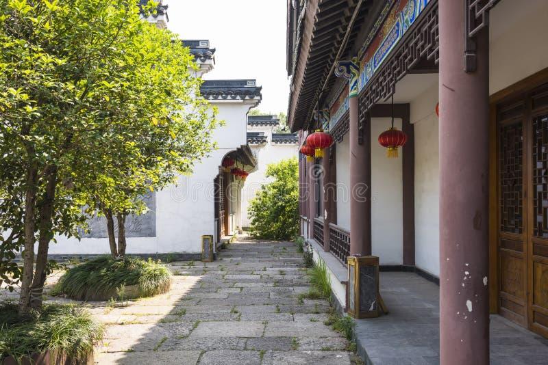 沿Qinghuai河的古色古香的大厦 免版税库存照片