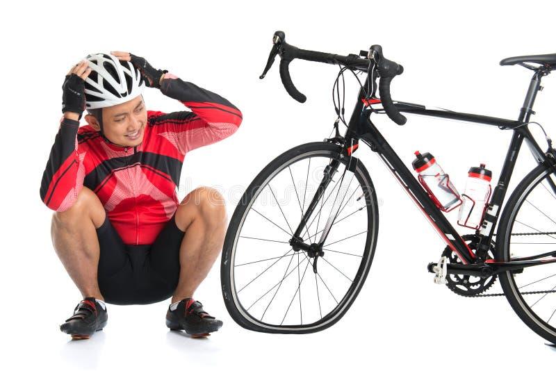 泄了气的轮胎自行车 免版税图库摄影