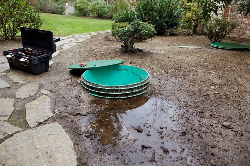 泄漏污水处理方式 免版税库存照片