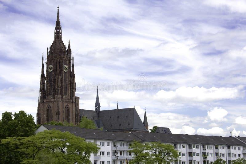 法兰克福大教堂 免版税库存图片