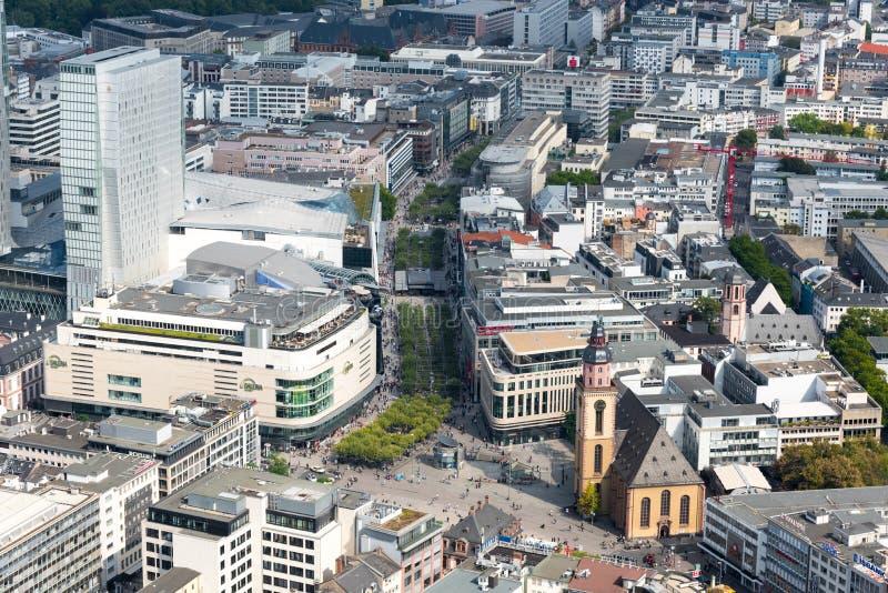 法兰克福市地平线在德国 图库摄影