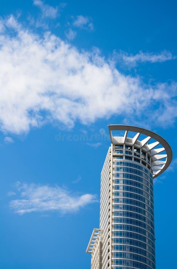 法兰克福现代摩天大楼 库存图片
