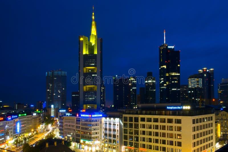 法兰克福,德国财政区  免版税库存图片