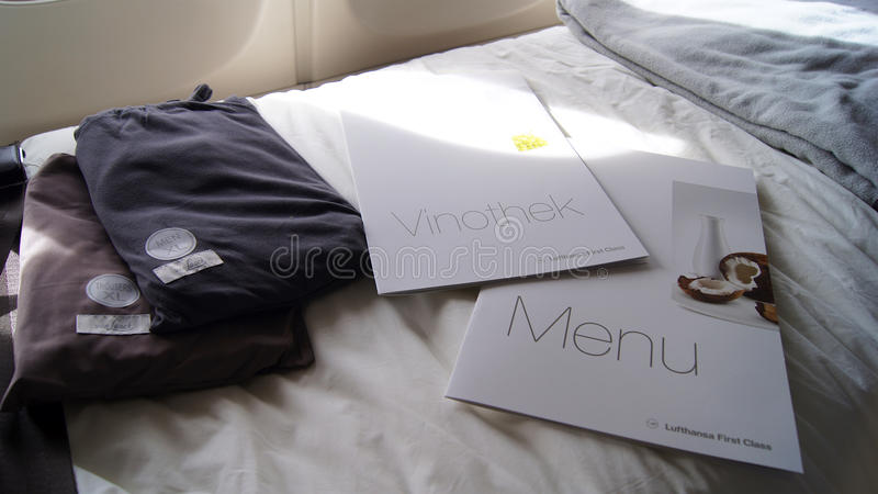 法兰克福- 2014年9月:头等礼节成套工具 免版税库存照片