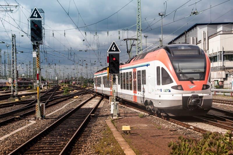法兰克福Hauprtbahnhoff 免版税图库摄影