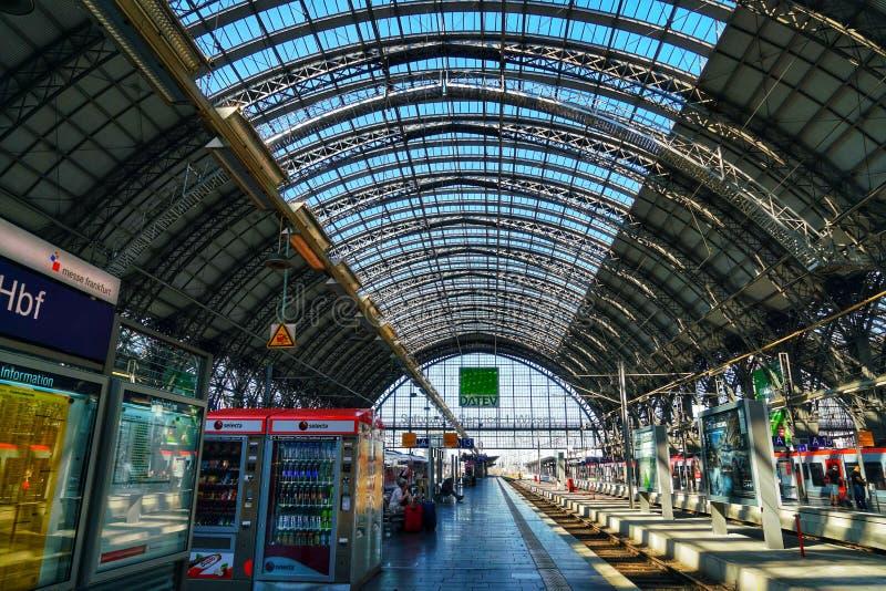 法兰克福Hauptbahnhof中央驻地 库存图片