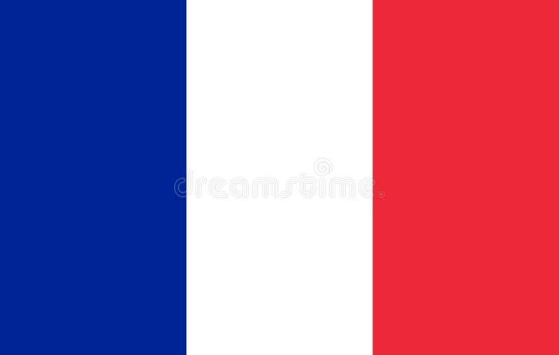 法国的旗子 向量例证