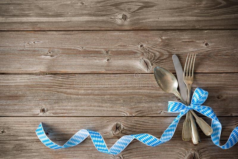 巴法力亚专业的菜单 免版税图库摄影