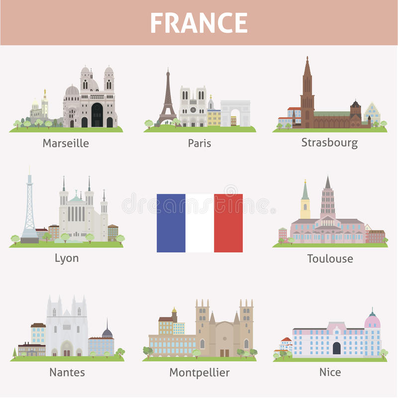 法国。城市的标志