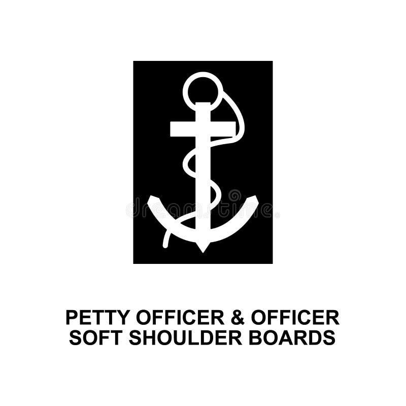 法国下士官员软质路肩上军衔和权威纵的沟纹象 库存图片