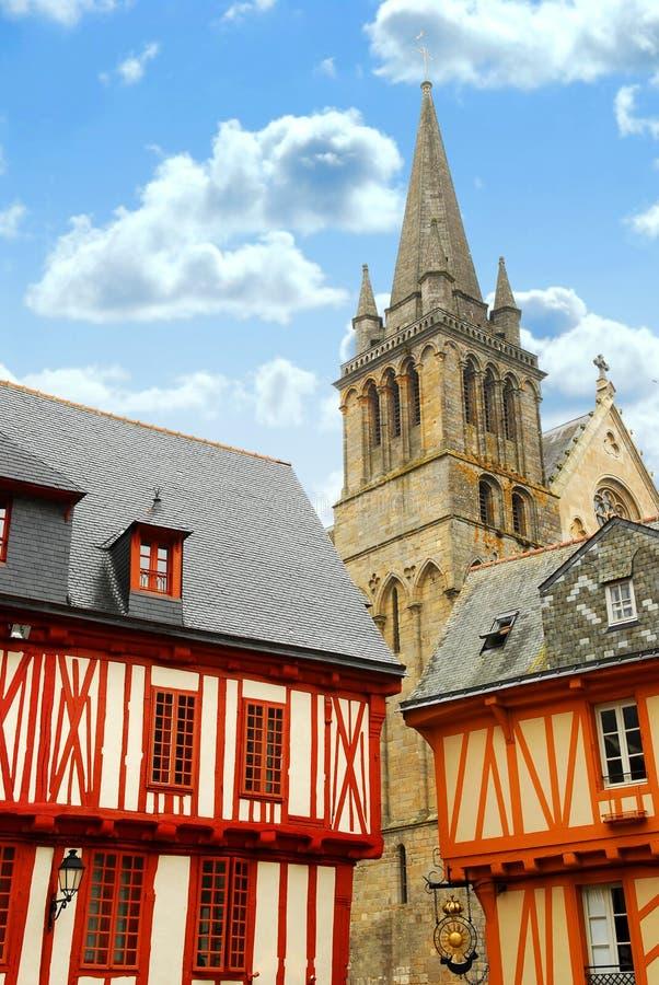 法国中世纪瓦讷 免版税图库摄影