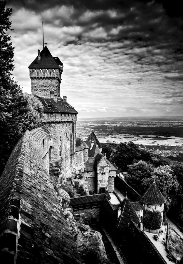 法国中世纪castel 免版税库存图片