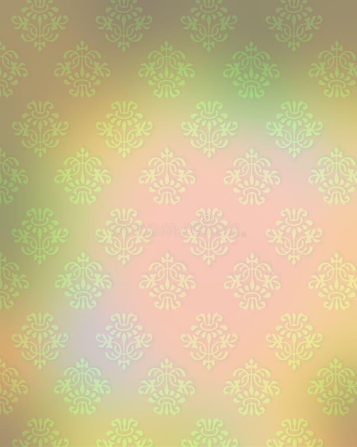 法国主题柔和的淡色彩墙纸 向量例证