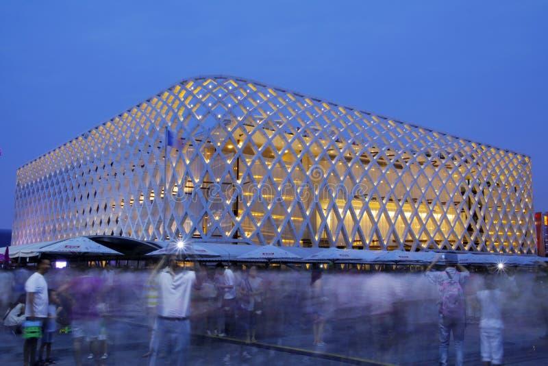 法国亭子,商展2010年上海 免版税库存图片