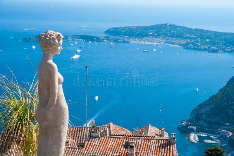 法国人里维拉风景 免版税图库摄影