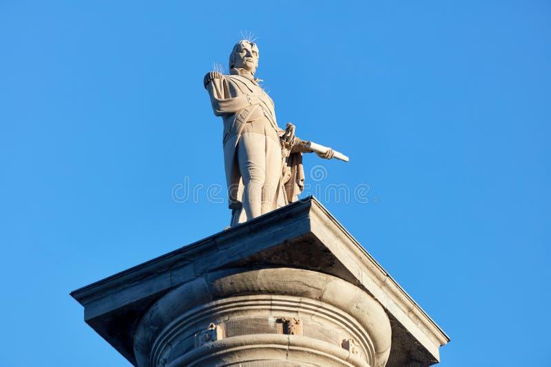 法国传教士纳尔逊的专栏纪念碑在蒙特利尔,魁北克,加拿大 库存图片