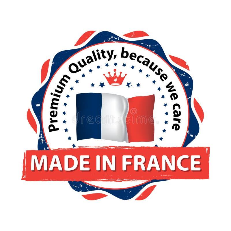 法国做 优质质量,因为我们关心 皇族释放例证