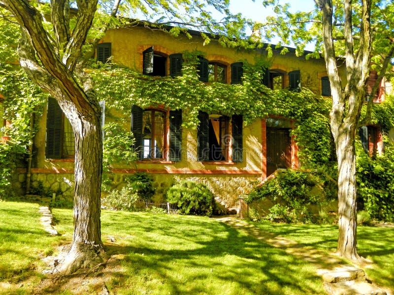 法国农舍,普罗旺斯,法国 免版税库存照片