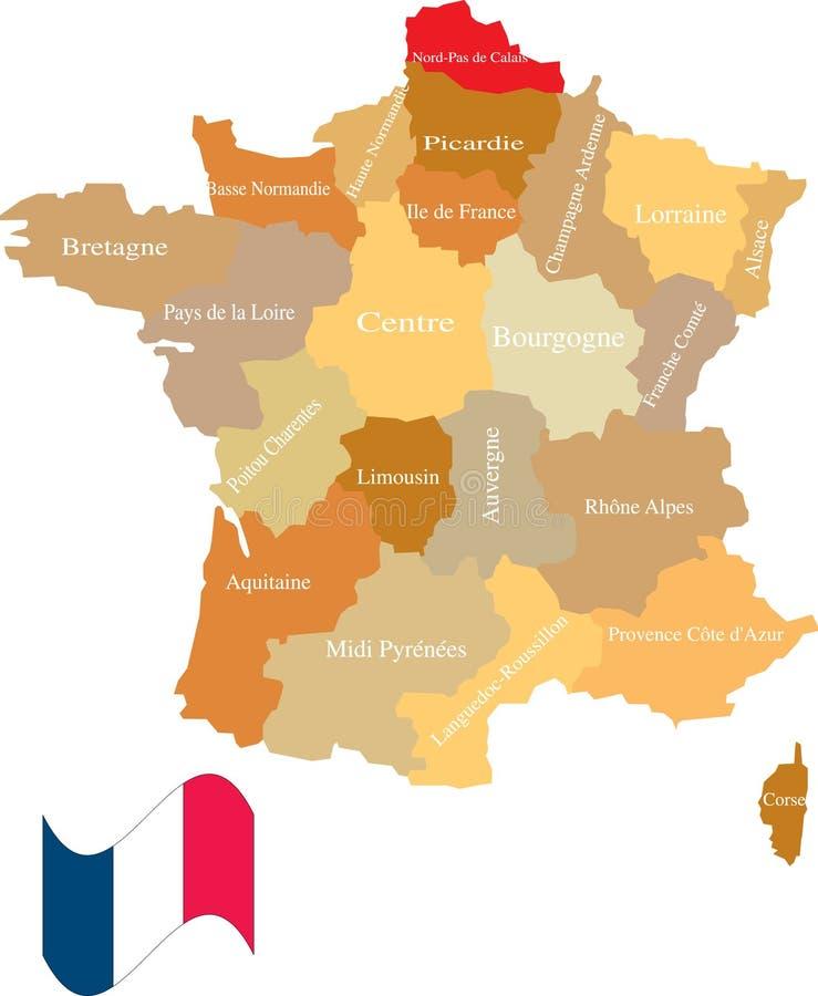 法国地区 皇族释放例证