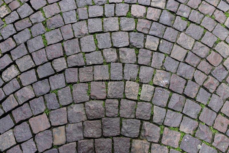 法国城市的鹅卵石地板 库存照片