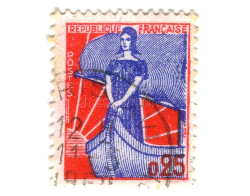 法国夫人老印花税 库存图片