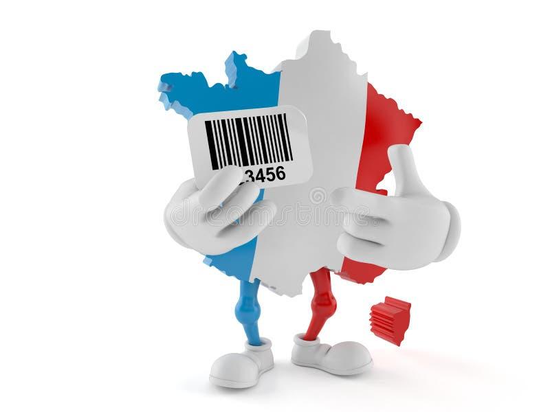 法国字符保存条形码 库存例证