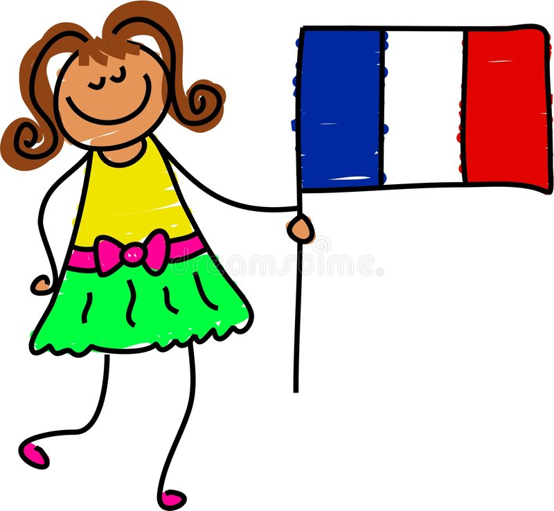 法国孩子 向量例证