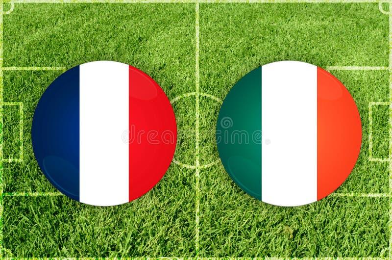 法国对爱尔兰 图库摄影