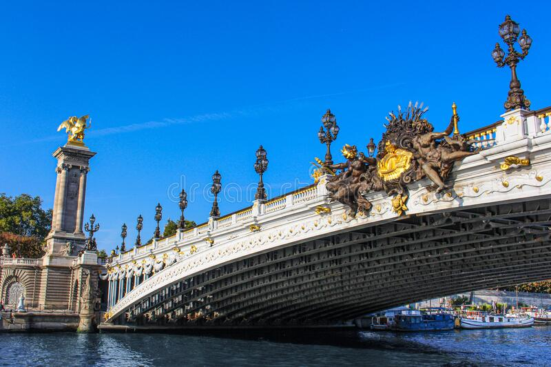 法国巴黎亚历山大3号桥 库存图片