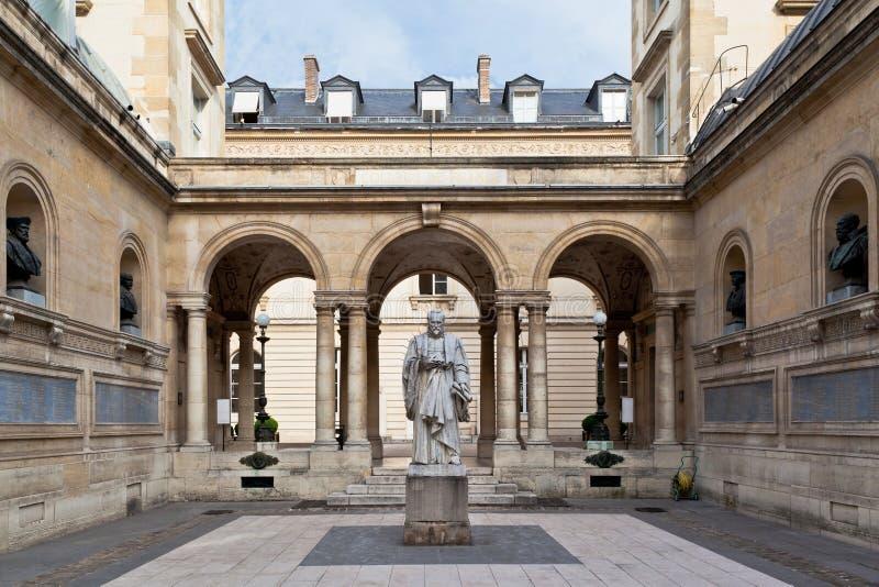 法国巴黎sorbonne大学 库存图片