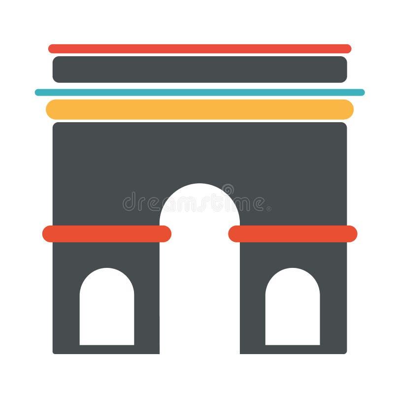 法国建筑学标志胜利曲拱 皇族释放例证