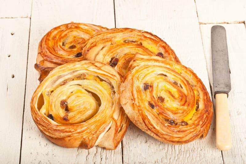法国或丹麦酥皮点心 免版税图库摄影