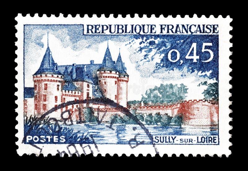 法国打印的邮票 免版税库存照片