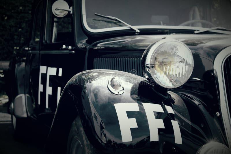 法国抵抗WW2汽车FFI 免版税图库摄影