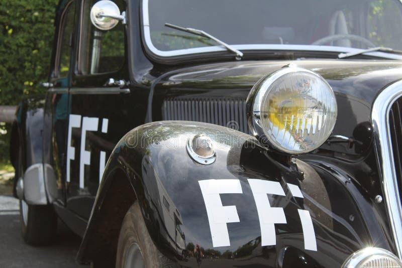 法国抵抗WW2汽车FFI 免版税库存图片