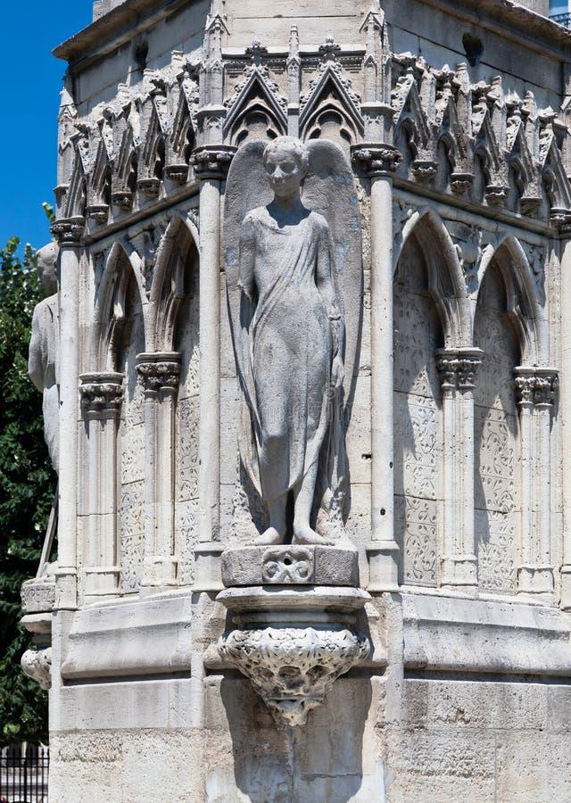 法国斜纹布巴黎广场xxiii 库存图片