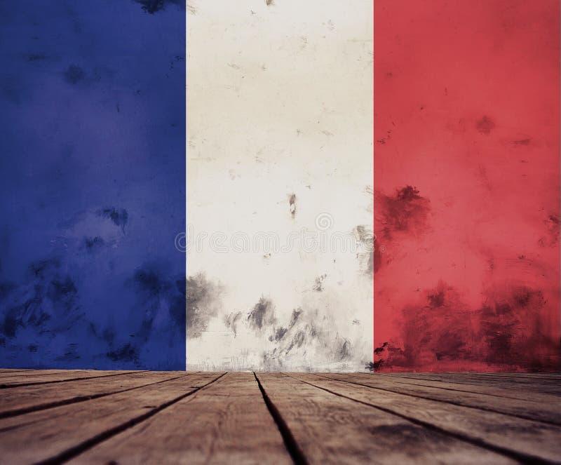 法国旗子纹理 向量例证