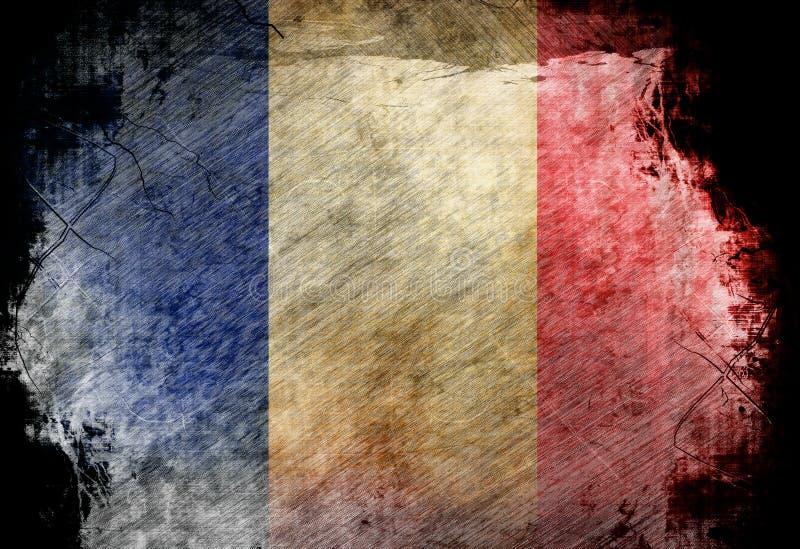 法国旗子 皇族释放例证
