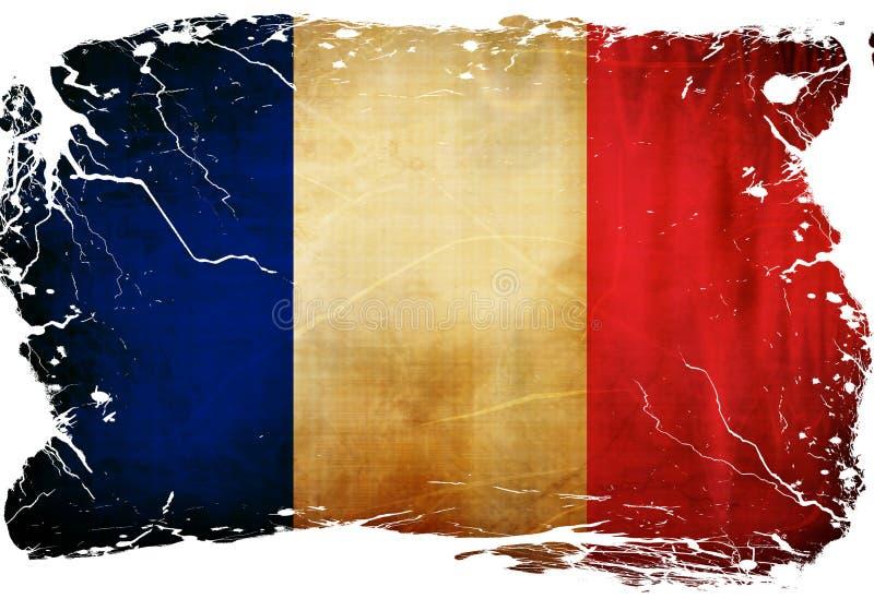 法国旗子 库存例证