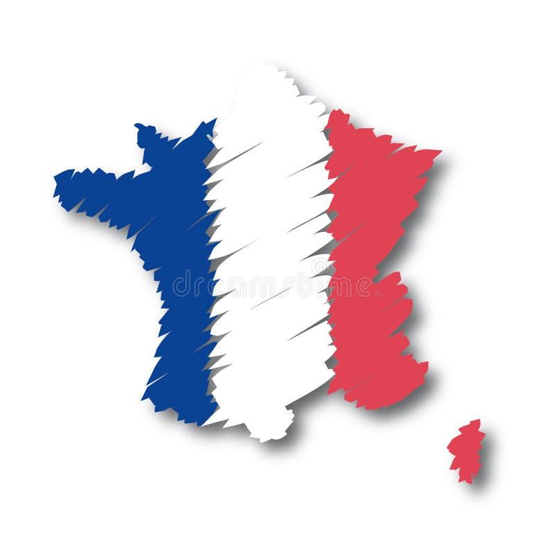 法国映射向量 库存例证