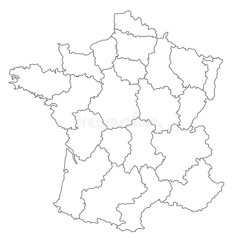 法国映射 库存例证