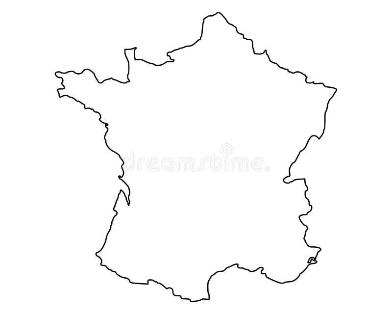 法国映射 向量例证