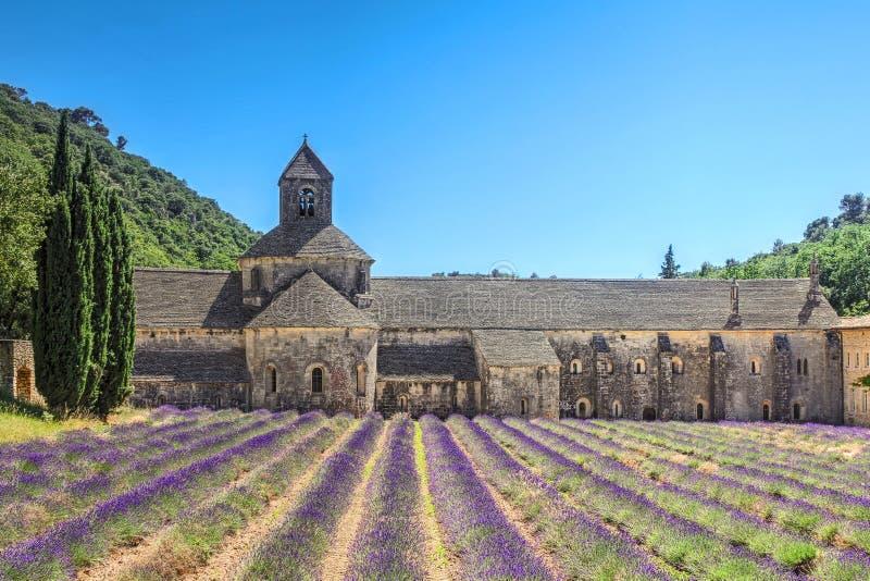 法国普罗旺斯塞南克修道院 免版税库存图片