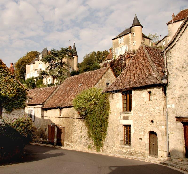 法国有历史的村庄 库存图片