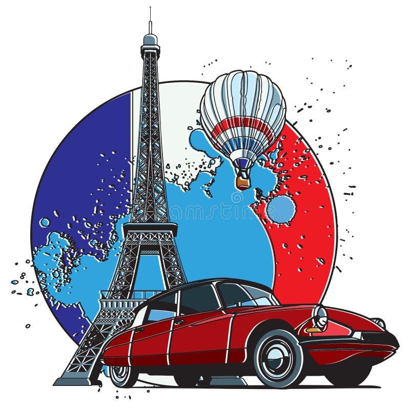 法国样式徽章 向量例证