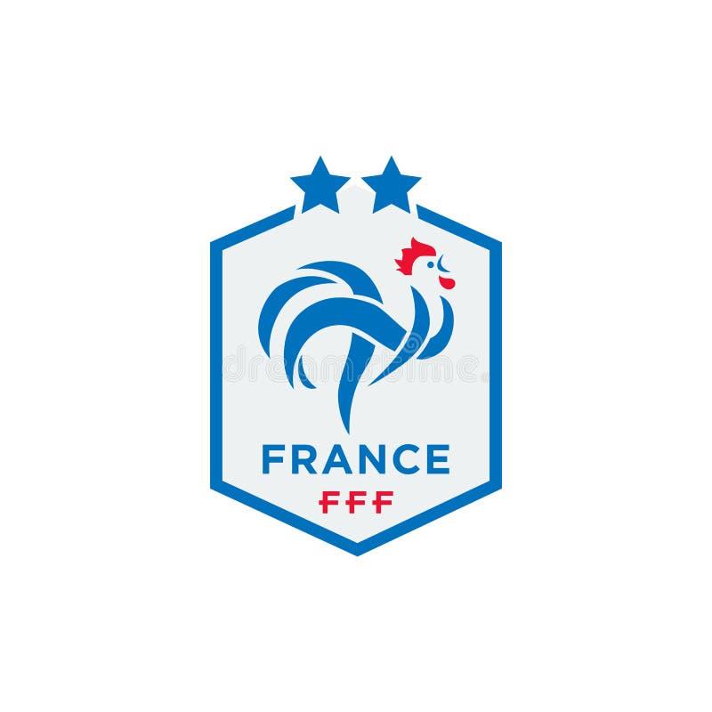 法国橄榄球联盟传染媒介例证正式商标  库存例证