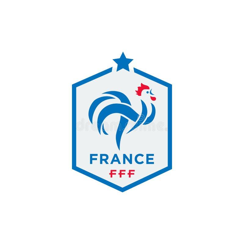 法国橄榄球联盟传染媒介例证正式商标  皇族释放例证