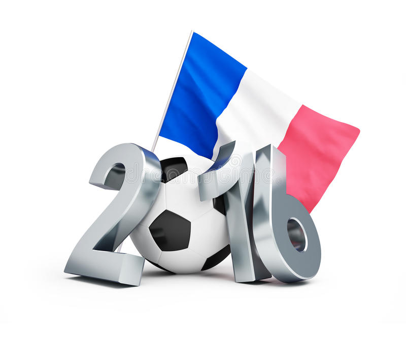 法国橄榄球2016年,法国的旗子 皇族释放例证