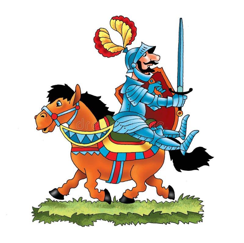 法国歌曲骑士公爵军队马 皇族释放例证