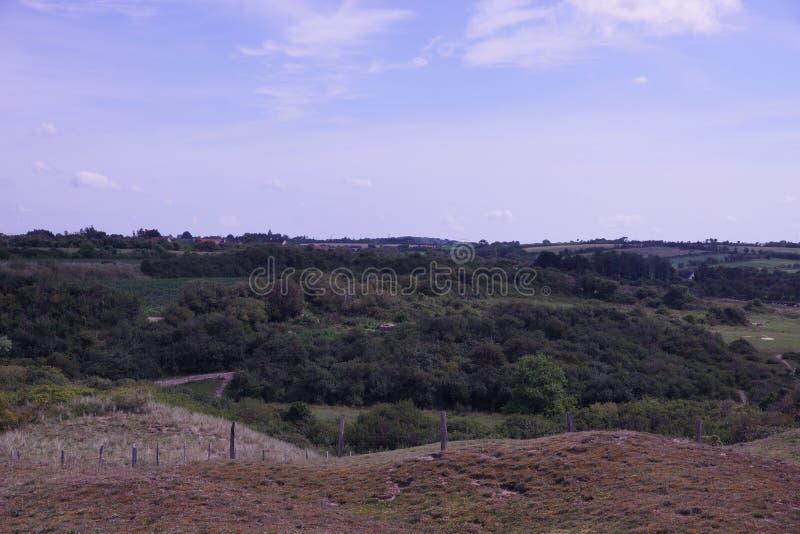 法国沙丘和领域 库存图片